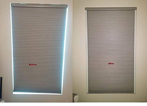 Sleepy Time Tracks is a light blocking solution to light creeping in along sides of your existing blackout room darkening shades, blinds & drapes. Easy to install in minutes. (White, 72 inch long)