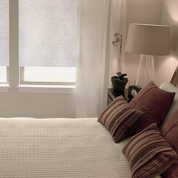Kenney Fabric Thermal Room Darkening Window Shade, 23-1/4-Inch, Ecru