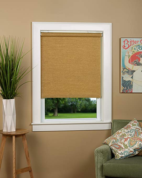 Natural Woven Cordless Spring Roller Shade - Size 33