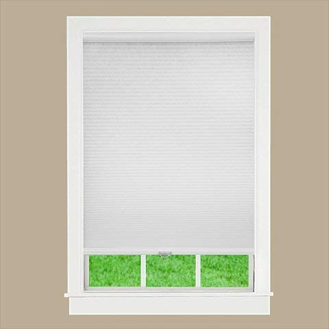 DEZ Furnishing QCWT510640 Cordless Cellular Light Filtering Shade44; White - 51 W x 64 L in.