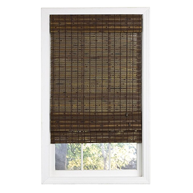 Lewis Hyman 0215494 Havana Bamboo Roman Shade, 35-Inch Wide by 72-Inch Long, Cocoa