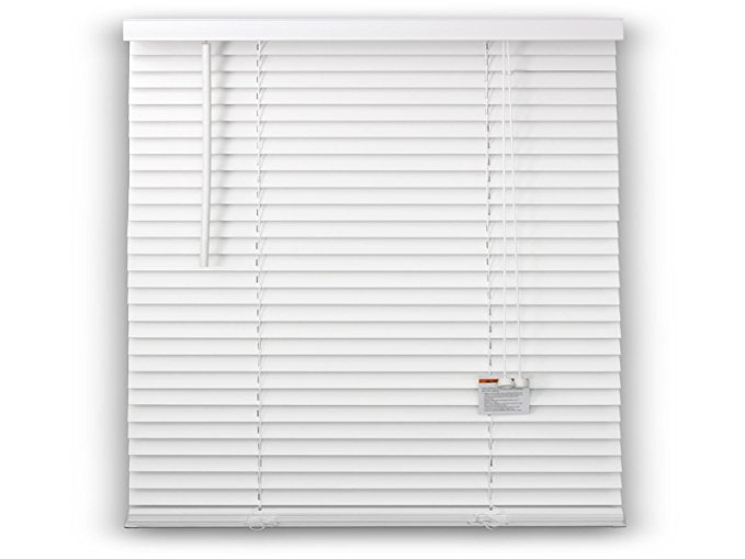 DEZ FURNISHINGS 29119 -2 Inch FAUX WOOD BLIND, White - 34