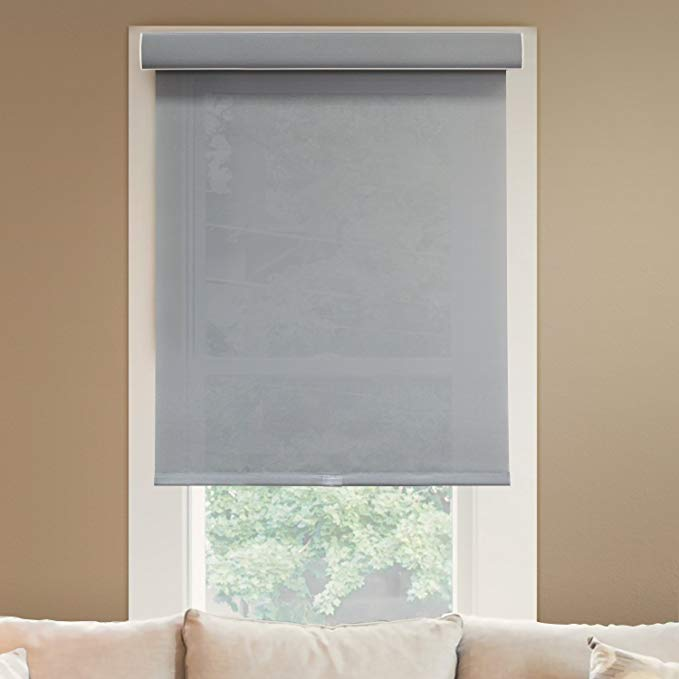 CHICOLOGY Deluxe Free-Stop Cordless Roller Shades No Tug Privacy Window Blind, 24