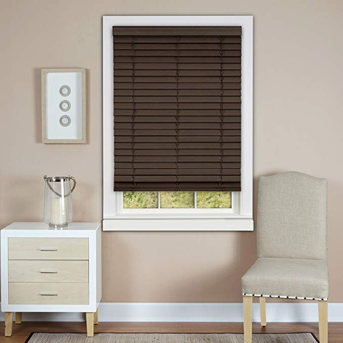 Plantation Collection Cordless Madera Falsa 2-Inch Faux Wood Blind - Mahogany - 39