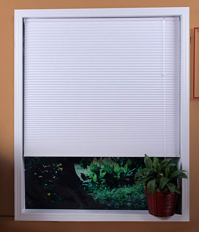 Premium 2 inch faux wood blinds, Snow White, 46 x 60